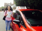 Yasmin 22/7/15 passed with Diana's School of Motoring