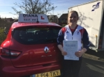 Gabby passed with Diana's School of Motoring