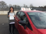 carolina pereira april 206 passed with Diana's School of Motoring