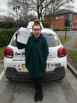 Congratulations to Bethany Dowe who passed her Automatic Driving Test this morning at #Norwich in #Bumble #TPDC<br />