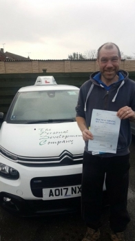 Congratulations to Dave who passed his Automatic Driving Test this morning at #Norwich in #Bumble #TPDC<br />