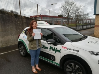 Congratulations to Natasha who passed her automatic driving test this morning at #Norwich in #Bumble #TPDC<br />