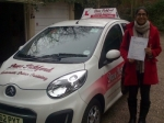 Sarah Ali passed with Dave Pickford Automatic Driver Training