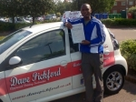 Kofi passed with Dave Pickford Automatic Driver Training
