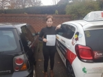 Hannah W passed with Dave Pickford Automatic Driver Training