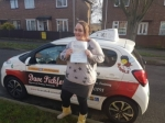 Hannah Dowe passed with Dave Pickford Automatic Driver Training