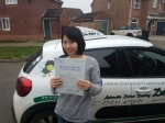 Xiaoli passed with Dave Pickford Automatic Driver Training