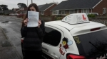 Corrina passed with Dave Pickford Automatic Driver Training