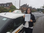 Donna Redpath passed with Dave Pickford Automatic Driver Training