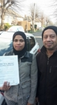 Fatema passed with Dave Pickford Automatic Driver Training