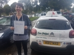 Felicity passed with Dave Pickford Automatic Driver Training