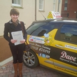 Hayley passed with Dave Pickford Automatic Driver Training