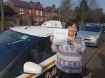 Jacqui passed with Dave Pickford Automatic Driver Training