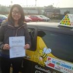 Jenna passed with Dave Pickford Automatic Driver Training