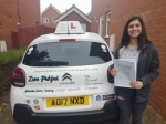 Jess passed with Dave Pickford Automatic Driver Training