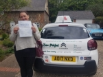 Laura W passed with Dave Pickford Automatic Driver Training