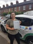 Leila passed with Dave Pickford Automatic Driver Training