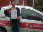 Nadine Zubair passed with Dave Pickford Automatic Driver Training