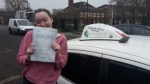 Nellie Corr passed with Dave Pickford Automatic Driver Training
