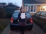 Sara-Beth passed with Dave Pickford Automatic Driver Training