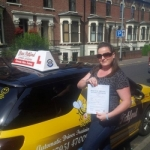 Siobhan Beavan passed with Dave Pickford Automatic Driver Training