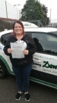 Tammy passed with Dave Pickford Automatic Driver Training