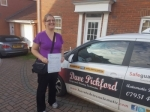 Tiffany passed with Dave Pickford Automatic Driver Training