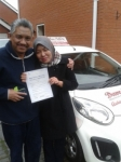 Zamira passed with Dave Pickford Automatic Driver Training
