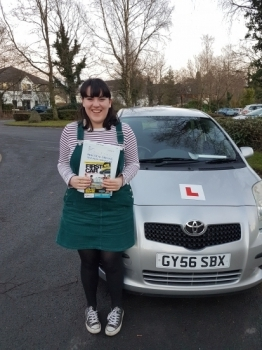 Congratulations to Josie Macdonald who passed her test today in her own automatic car. Well done! Just in time for your new job and a happy Christmas. Safe driving and thanks for choosing Drive to Arrive.