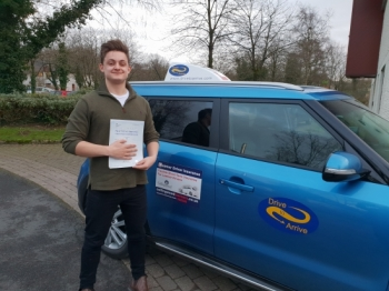 A big well done to Ben for passing his test today, first time. Congratulations! Safe driving and thanks for choosing Drive to Arrive.