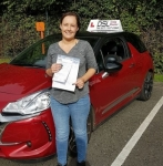 Carrie Dickson passed with DSL Driving School
