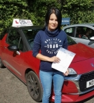 Catherine Woods passed with DSL Driving School