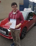 Curtis Hamilton passed with DSL Driving School