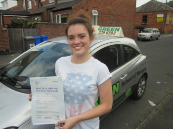 Well Done Lauren a first time pass with just 2 minors<br />