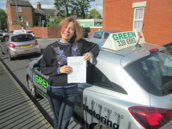 Well Done to Viktoriia Greenwood a First time pass.