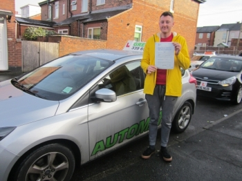 Renown children´s author Peter Jarvis passed his test with just 1 minor today.