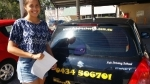 Bailie Drewvale (Logan) passed with Fab Driving School