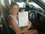 Emma (Cresmead) passed with Fab Driving School