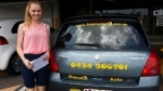 Raquell (Woodridge) passed with Fab Driving School