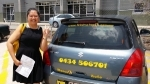 Sheena Calamvale passed with Fab Driving School