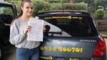Tegan (Woodridge) passed with Fab Driving School