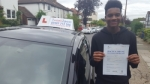 Tariq Noel passed with 1 week 2 pass