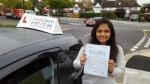 Karishma Badal passed with 1 week 2 pass
