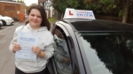 Megan Hinch passed with 1 week 2 pass