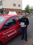 Brian Cravan passed with 1 week 2 pass
