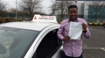 Emmanuel Egwu passed with 1 week 2 pass
