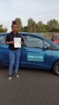 Jayda Rowe passed with 1 week 2 pass