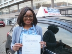 Afiya passed with Francos Driving School