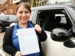Alessia passed with Francos Driving School