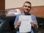 Alex passed with Francos Driving School